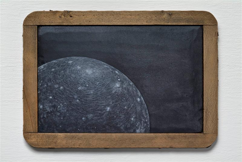 <span>Callisto</span><br />2009 - 7&quot x 10&quot x ½&quot - scratched child's chalkboard